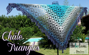 Châle triangles (au crochet)